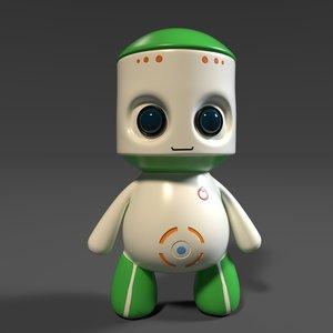 3D cute plastic toy robot