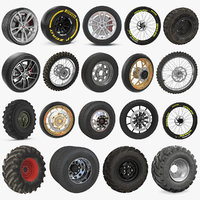 Wheels Big 3D Models Collection 4