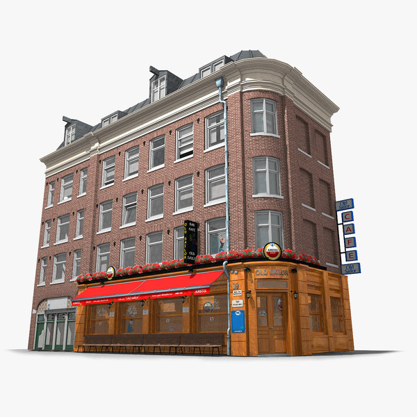 old classic corner amsterdam 3D model