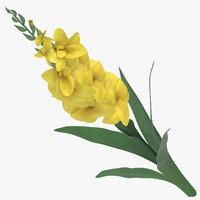 3D yellow - model