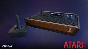 3D model console atari 2600 ready