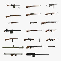 World War II USA Guns Collection