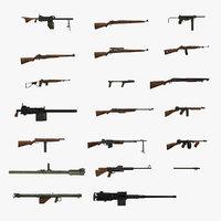 3D model world war ii usa