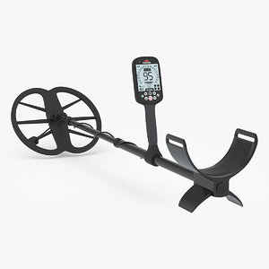 3D professional metal detector model