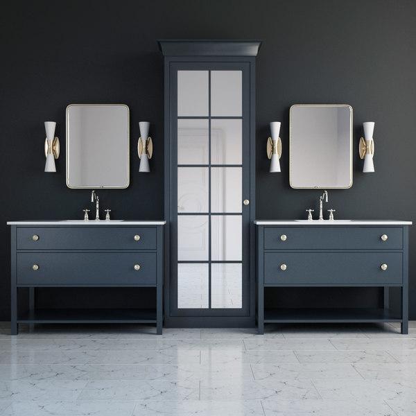 bathroom furniture washbasin 3D