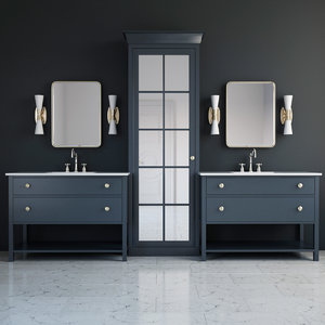 bathroom furniture washbasin 3D
