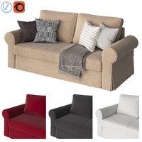 sofa ikea backabro 3D model