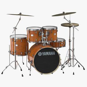 drums set 3D model