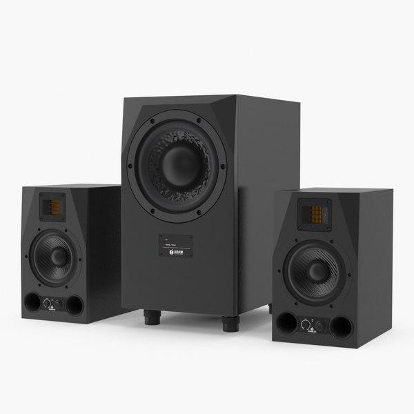 3D adam speakers subwoofer model