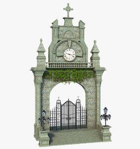 3D fantasy gate classic
