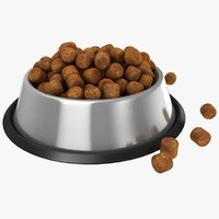 3D bowl dog food 02