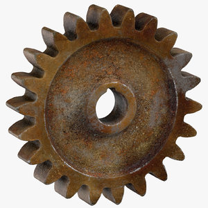old spur gear 02 3D