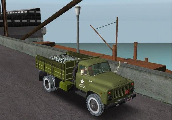 3D dumper truck gaz 53