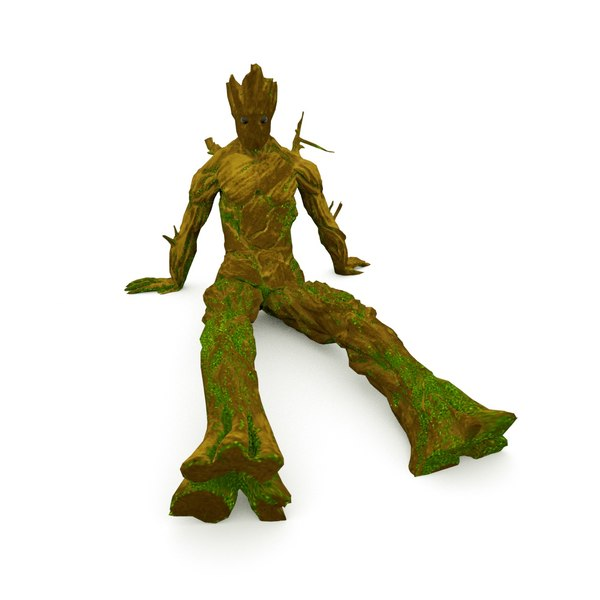 groots rigged 3D model