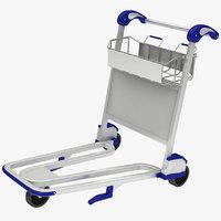 3D model luggage trolley
