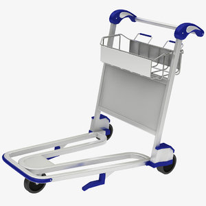 3D model luggage trolley