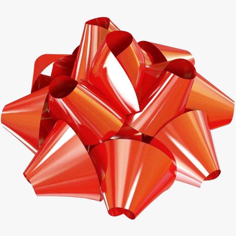 3D gift bow model