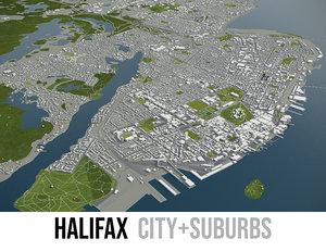 3D city halifax surrounding -