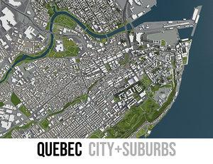 3D city quebec surrounding -