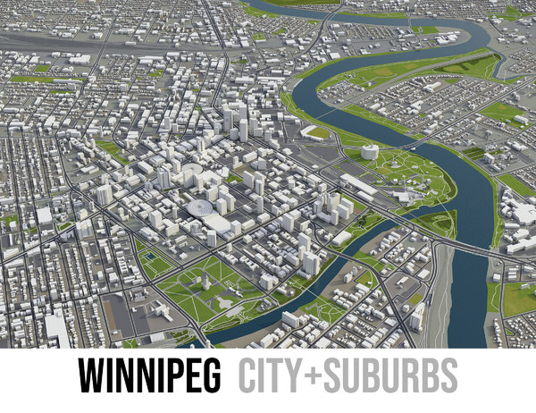 3D city winnipeg model