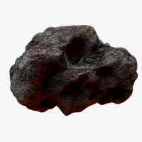 rocky asteroid 4 3D model