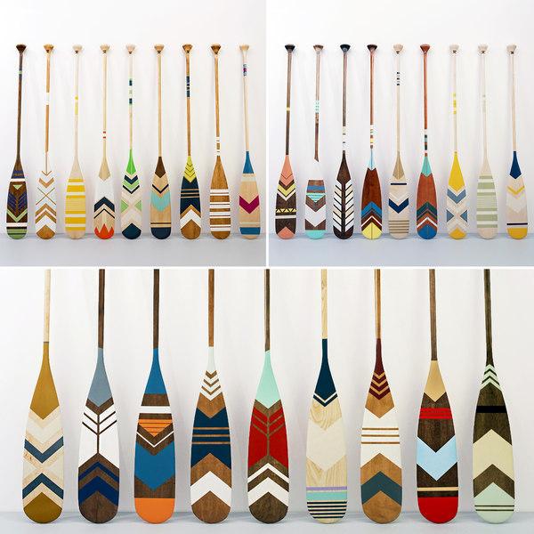 canoe paddles - 27 3D model