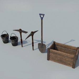 kit gameready box 3D model
