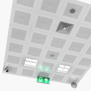 ceiling equipment parts 3D model