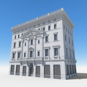 3D morton f plant house model