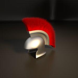 3D helmet red roman