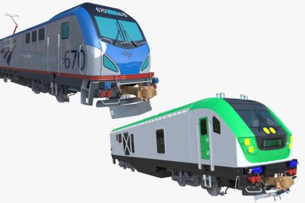 3D model locomotives siemens