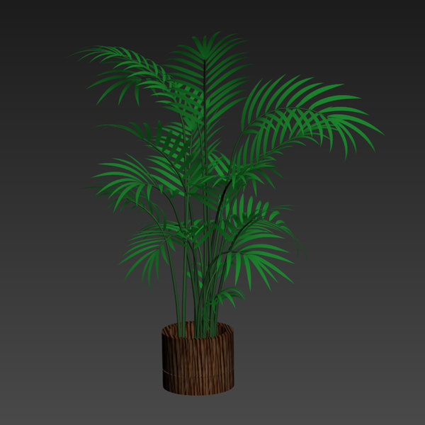 pots palm 3D model