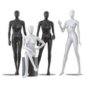 faceless female mannequins model