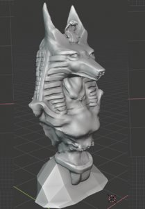 3D bust anubis model
