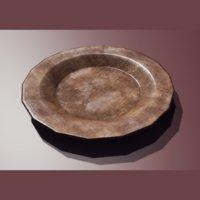 wooden plate model
