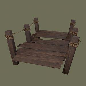 3D wooden modular dock 2