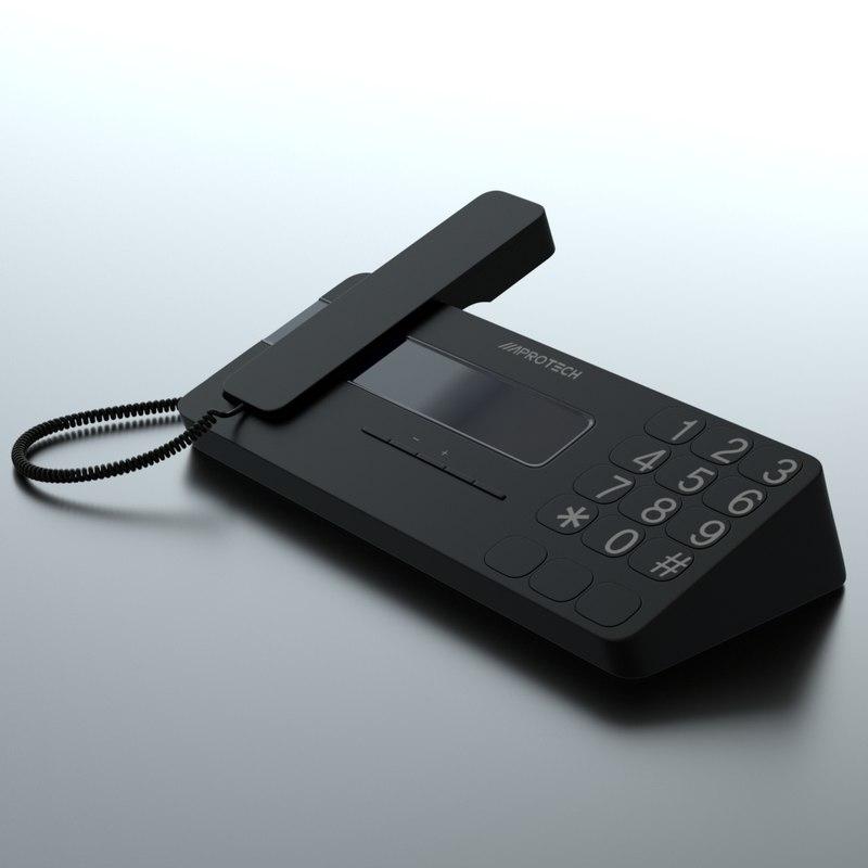 black telephone 3D model