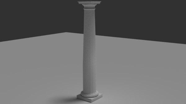 3D roman tuscan column model