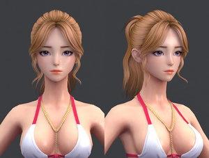 cartoon hair 3D