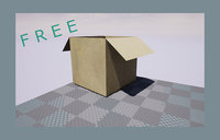 Cardboard - Game Ready Free low-poly 3D model