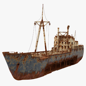 3D shipwreck ship wreck model
