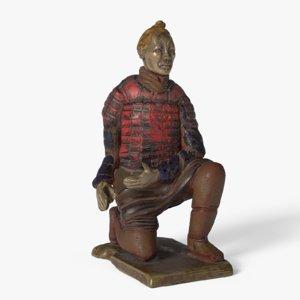 3D terracotta archer