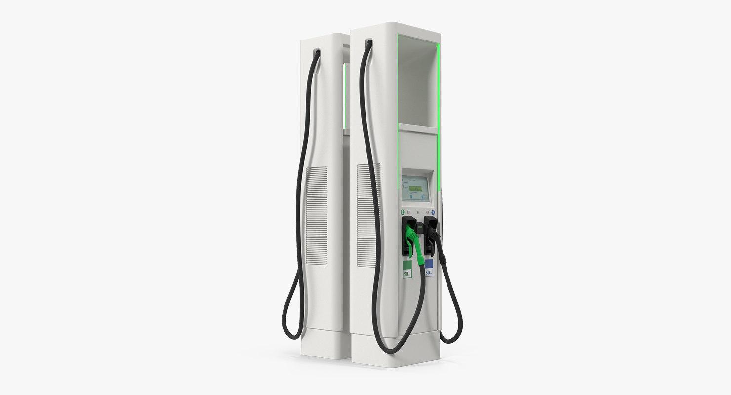 ev charger charging 3D model