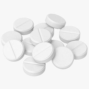 pill medication antibiotic 3D model