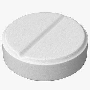 pill medication antibiotic 3D