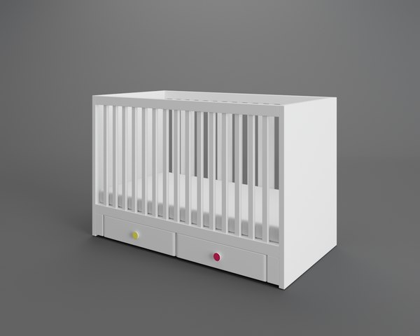 3D stuva crib drawers model