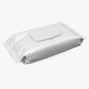 wet wipes package 3D model