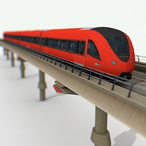 railway metro train 3D