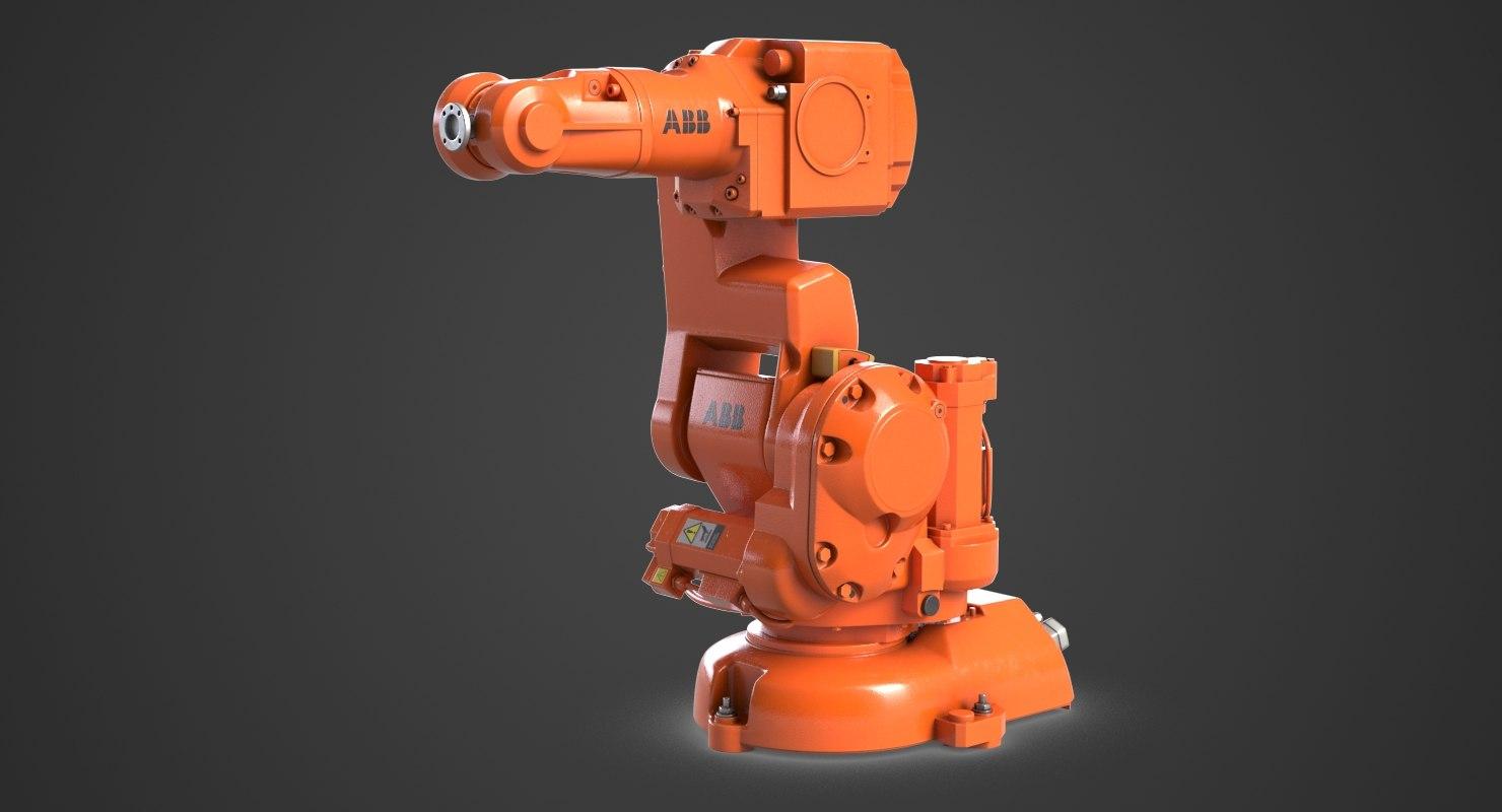 3D industrial robot arm abb