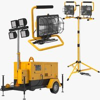 3D real construction mobile lights